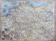Germany, Switzerland, Oostenrijk, Benelux; Hondius / Mercator - Germania - 1614