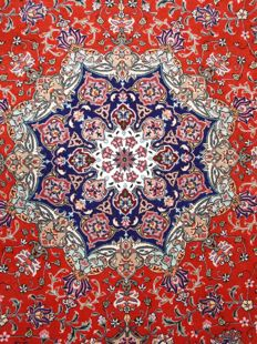 TABRIZ PERSIAN – WOOL AND SILK – VERY FINE