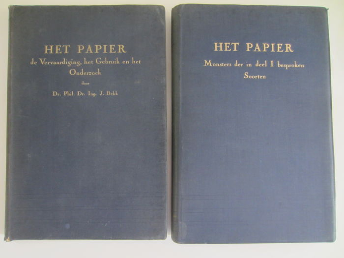 Paper; Lot with 4 books on paper-making and paper trade - 1942-1951