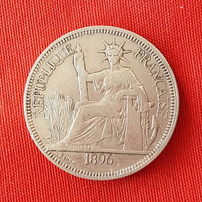 French Indochina – Piastre de Commerce 1896 A (Paris) – Silver
