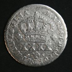 Portugal – ½ Tostão in SILVER – D. Maria I – 1786-1799 – Lisbon – AG: 05.01 – See Description