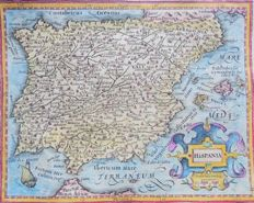 Spain, Portugal; Hondius / Mercator - Hispania - 1614