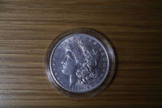 USA - Morgan Silver Dollar 1889 & 1899 O Mint (2 Coins) - silver