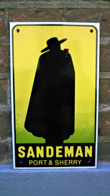 Legendary SANDEMAN Port & Sherry - Emaille - Vintage - ca. 1972