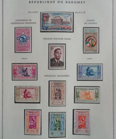 Former French Colonies 1961-1974 - Nearly-complete collection from Dahomey.