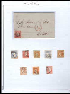 Spain 1845/1939 - Collections of the postal history of Huelva and Almeria.