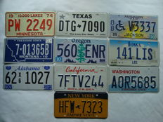 USA state license plates.