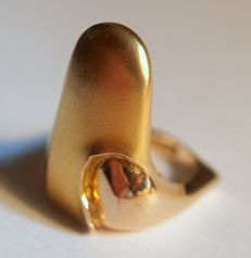 """Lapponia - """"Reflection"""" gold ring by Poul Havgaard (danish) - 17,6mm"""