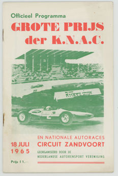 1965 Dutch Grand prix programme.Zandvoort  Surtees Bandini Ferrari