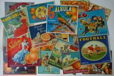 Lot of 18 Spanish Orange Crate posters/labels- approx 1955-1965