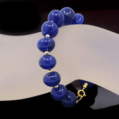 18kt/750 yellow gold sapphires bracelet – Length 21 cm. / 17 cm. useful length (inside circumference size)