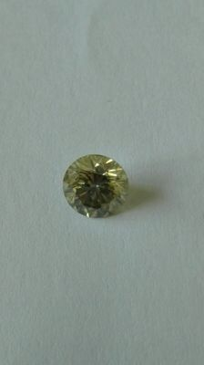 Diamond 1.08 ct SI1 natural fancy greenish yellow certified
