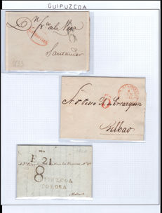 Spain 1810/1940 – Collection on the postal history of Gipuzkoa.