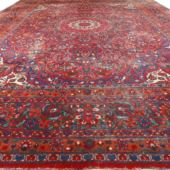 "MESHED - Iran - 425 x 320 cm. - ""Persian Vintage carpet - XXXL"" - Second half previous century"
