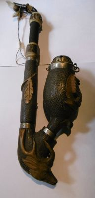 Carved black forest pipe - 1880