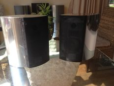 Bang & Olufsen BeoLab 4000 set with black metal fronts and wall brackets