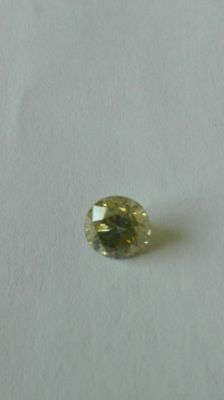 Diamond 0.58 ct VS2 natural fancy yellowish grey certified
