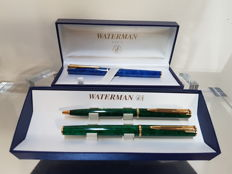 Lot of 3 Waterman Pens- 2 Fountain Pens/ 1 Ballpoint Pen