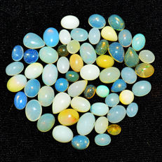 Lot of natural Opal from Ethiopia - 6 to 10 mm - 54ct