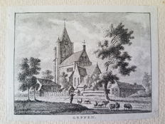 30 topographical prints of Northern Brabant; A. de Haen, c. Pronk and others-1750/1790