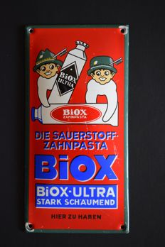 Small enamel sign - BIOX-ULTRA - 1950-60