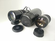 Lot of 2 Sigma lenses: Sigma MC 1:5.6 F 300mm (Contax) + Sigma 1:3.5 F 200mm MC (Canon FD)