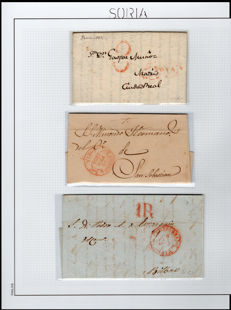 Spain 1820/1930 – Collections with the postal history of Soria, Palencia and Burgos.