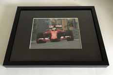 Framed image, personally signed by Sebastian Vettel