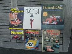 Lot of 4 books and 2 comic books about Formula 1 - 1970/2005.
