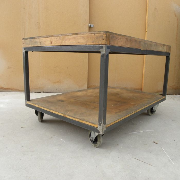 No Frills Workbench 4 Steps With Pictures: Industrial Trolley / Workbench