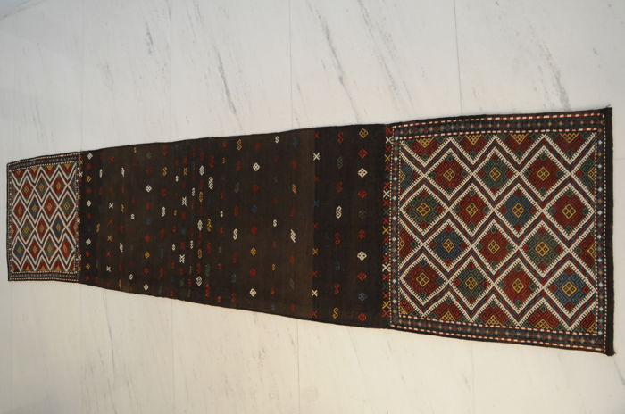 Terrific antique Verneh saddlebag (opened) with extremly beautiful colours. Rare piece.