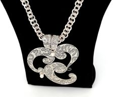 925 silver pendant with filigree work and a hand-crafted 925 silver necklace