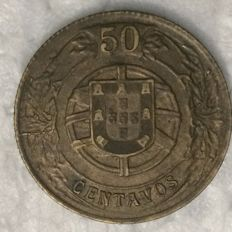 Portugal – 50 Centavos 1924 – Hard to find in this condition