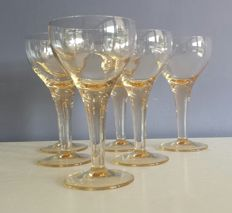 6 special crystal beer glasses
