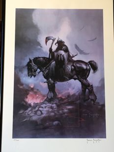 The Death Dealer By Frank Frazetta - Limited Edition Lithograph - Extremely Rare - (1973)