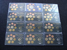 Europe – Year collections / medals of various Euro countries 1999/2008 (12 pieces)