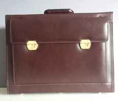 Brown leather pilot's briefcase