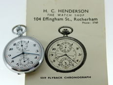 H.C Henderson - Vintage Flyback Chronograph Pocket Watch, 1963 Rotherham
