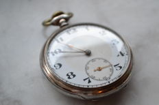 Antique Junghans 800 silver pocket watch