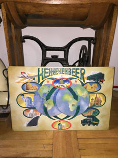 Unique XXL Heineken original convex sign designed by a famous artist in cooperation with Heineken - 1980s