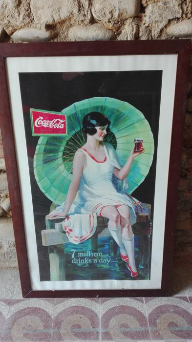 Coca Cola advertisement on paper - 1960s/70s