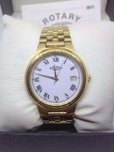 ROTARY  unisex  gold  slim  watch
