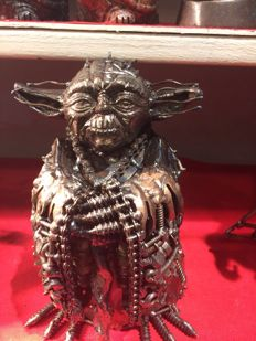 Yoda Metal Art Sculpture