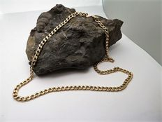 Yellow gold chain necklace - 14 kt - 62 cm