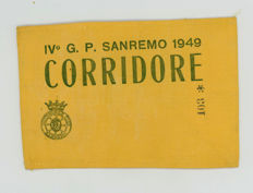 Original 1949 Grand Prix Sanremo Drivers Armband