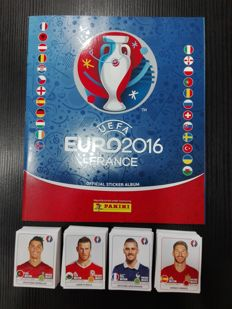 Panini - Euro 2016 - Empty album + 680 non-stuck trading cards