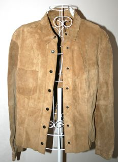 Giorgio Armani Jeans – Natural suede shirt/jacket.