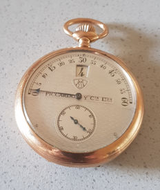 10 Piccardo y Cia Ltda – Pocket watch with digital second – Switzerland 1890