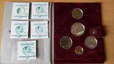 The Netherlands – Lot with 5 medals Euro – 1996 – Constantijn Huygens – Gold and Silver