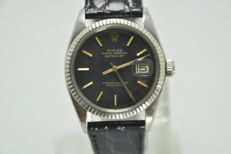 Rolex Oyster Perpetual Datejust White Gold/Steel Black Dial Ref. 1601 Cal. 1570 Automatic - Men's Watch